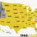 哪些女生名字是美國本土歷史上最受歡迎? (1960-2012)