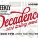 OC Weekly Decadence 美食活動即將來臨(Sept .5 7—10Pm)