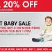 Macy's嬰兒用品童裝買兩個享50%折扣,還有另外extra20%!