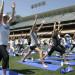 Dodgers Yoga Day 球場千人瑜珈活動 (5/21)