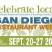 San Diego Restaurant Week 餐廳美食週 (9/25 ~ 10/2)
