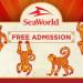 同慶農曆新年  屬猴的可以免費去 SeaWorld 玩喔~