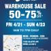 亞瑟士 ASICS Warehouse Sale (4/21-23)