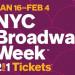 把握機會! NYC 百老匯秀門票買一送一 (1/16-2/4)