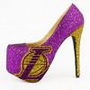 NBA LOGO時尚水晶高跟鞋: 好閃啊!