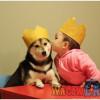 超級卡哇依寶寶與柴犬生活萌照