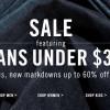 LEVI'S JEANS SALE折扣高达60% OFF!一条牛仔裤不用$30!