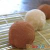 人妻廚房 – 女兒節的和菓子,綠豆仁香蕉大福
