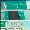 710 Freeway新路牌出現烏龍,Olympic Boulevard 變身 'Olimpic'