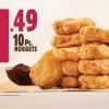 Burger King 10件雞塊優惠又回來了!