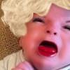 驚悚!媽媽幫7周的寶寶拍照並且使用P圖軟件後…