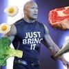 巨石強森(The Rock)公開了他每天的菜單,跟著一起吃你也能頭好壯壯!