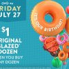 Krispy Kreme生日快樂!7月27日當天第二打甜甜圈只需「$1」