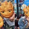 這麼可愛哪捨得吃?迪士尼樂園推出《星際異攻隊》裡萌蠢的格魯特(Groot)形狀麵包!