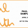 買買買!Paul Smith Sample Sale 特賣會來襲 (4/30-5/5)