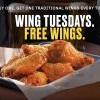 Wing Tuesdays再度回歸!Buffalo Wild Wings每週二雞翅買一送一