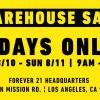 本週末限定!首場Forever 21 Warehouse Sale折扣高達90% OFF (8/10-11)