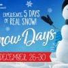 带小朋友来玩雪❄️吧!Kidspace Snow Days (12/26-30)