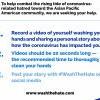 #WashTheHate由亞裔藝術家與網紅分享