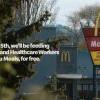 麥當勞以「感恩餐」向醫護人員和最前線工作人員致敬