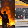 洛杉磯市容遭破壞!房子車輛燒起來 唯獨Kobe壁畫完好無損