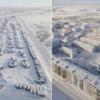 影/空拍北極「冰封鬼城」 零下50度宛如時光凍結