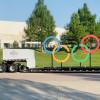 巨型五環萬里長征 跨越美國為東京奧運造勢