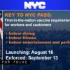 9月13日起 出示疫苗接种证明才可在纽约市室内用餐