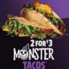 Jack In the Box 萬聖節期間限定 Monster Tacos 兩個只需$3(-10/31)