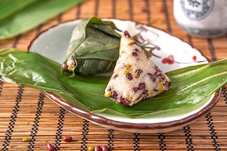蜜枣红豆粽