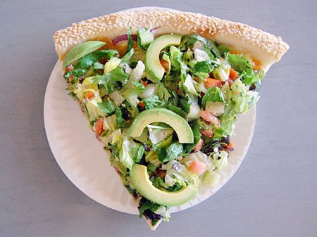 6.Salad Pizza at Abbot's Pizza
