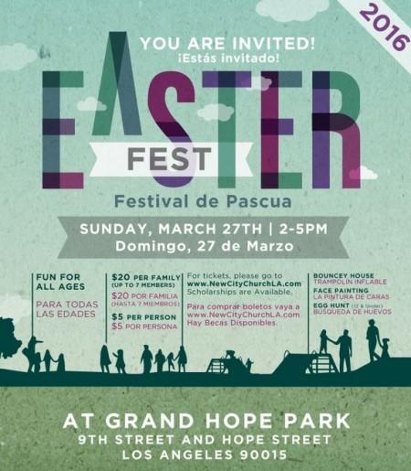 Downtown LA Easter Fest at Grand Hope Park