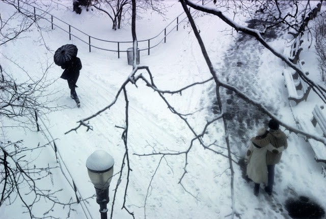 USA. New York City. 1983. Central Park in winter.