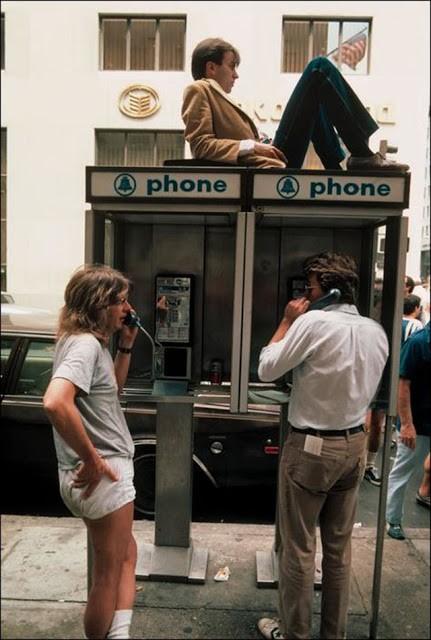 Public telephone on Fifth Avenue.