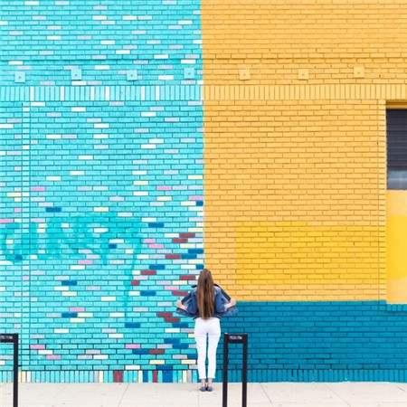 color-block-brick-wall