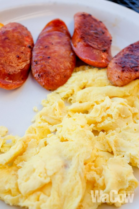 Scrambled Egg with Portuguese Sausage 1
