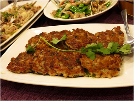 Pan Fried Patty with minced lotus root