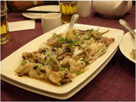 Steamed Fish Head with black bean sauce
