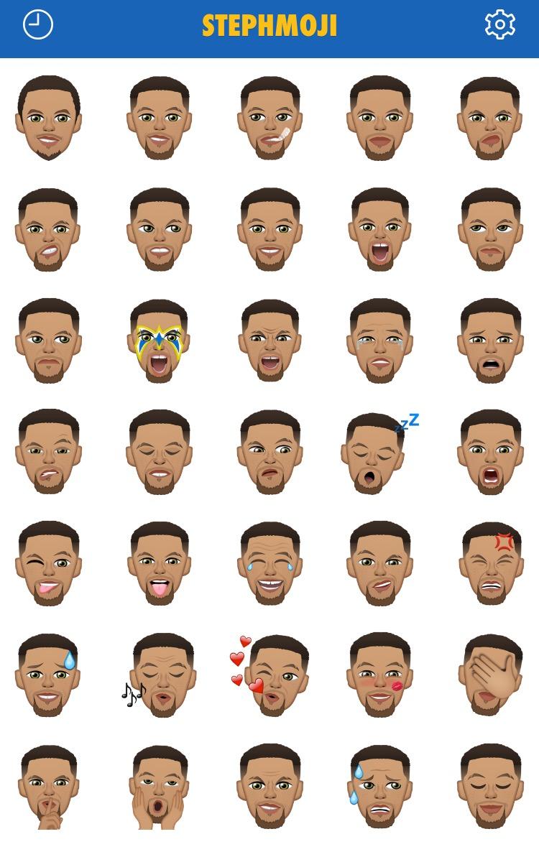 咖哩粉迷看過來~ 籃球萌神 Stephen Curry 的專屬Emoji App 上架啦!