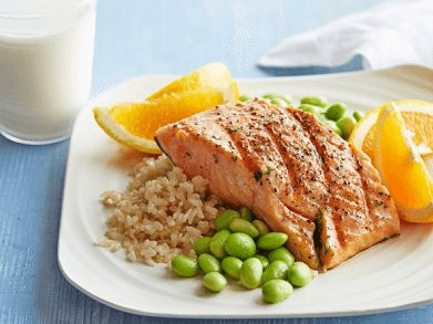 Salmon Brown Rice 1 Foodnetwork