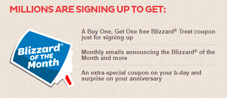 DQ blizzard of the month