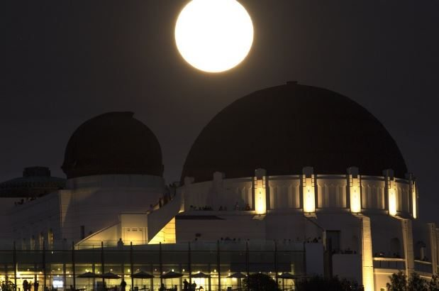 Full moon griffith observatory 1 wsj