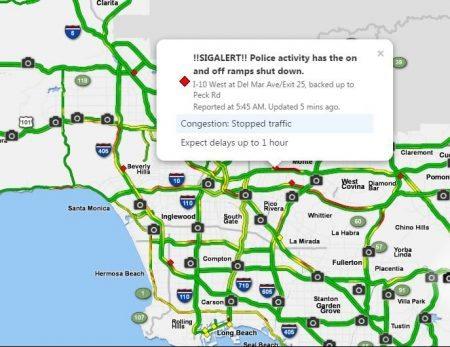 LA Traffic 5 sigalert - WaCowLA 哇靠!洛杉矶Los Angeles