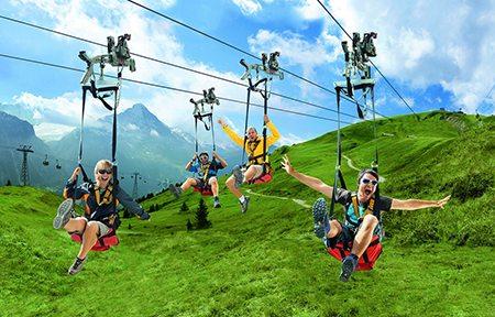 Zippling Grindelwald Switzerland