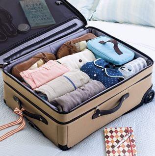 organized luggage 1 pinterest