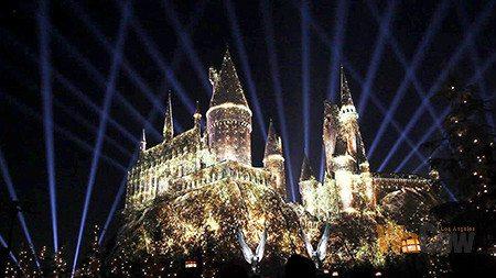 nighttime Lights at Hogwarts Castle