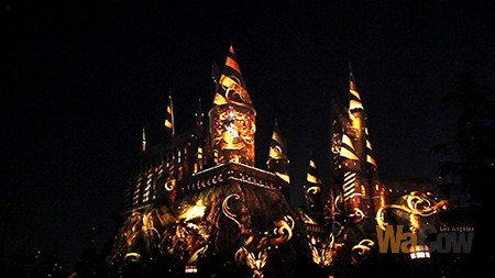 nighttime Lights at Hogwarts Castle1