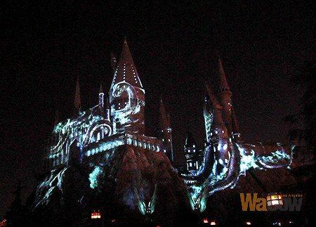 nighttime Lights at Hogwarts Castle2