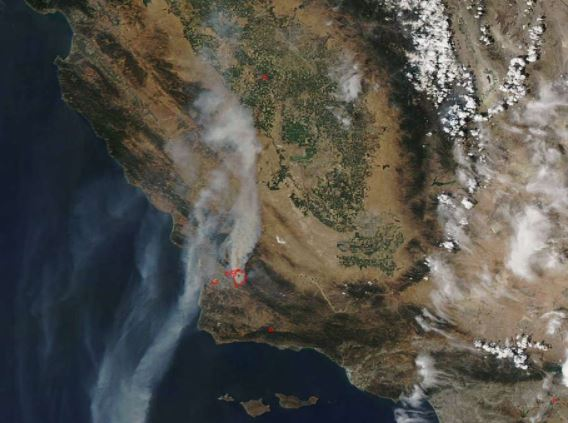 CA wildfire 2017 1 NASA