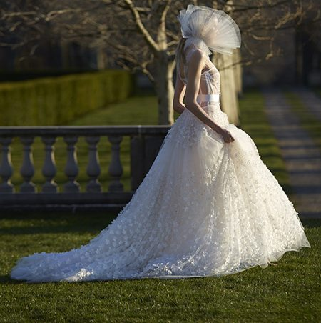 Wedding dress by Vera Wang via verawang.com